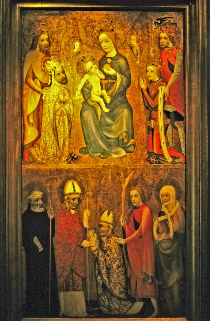 Prag: Nationalgalerie im Agneskloster - Votivbild des Jan Očko von Vlašim [nach 1370] (2004)