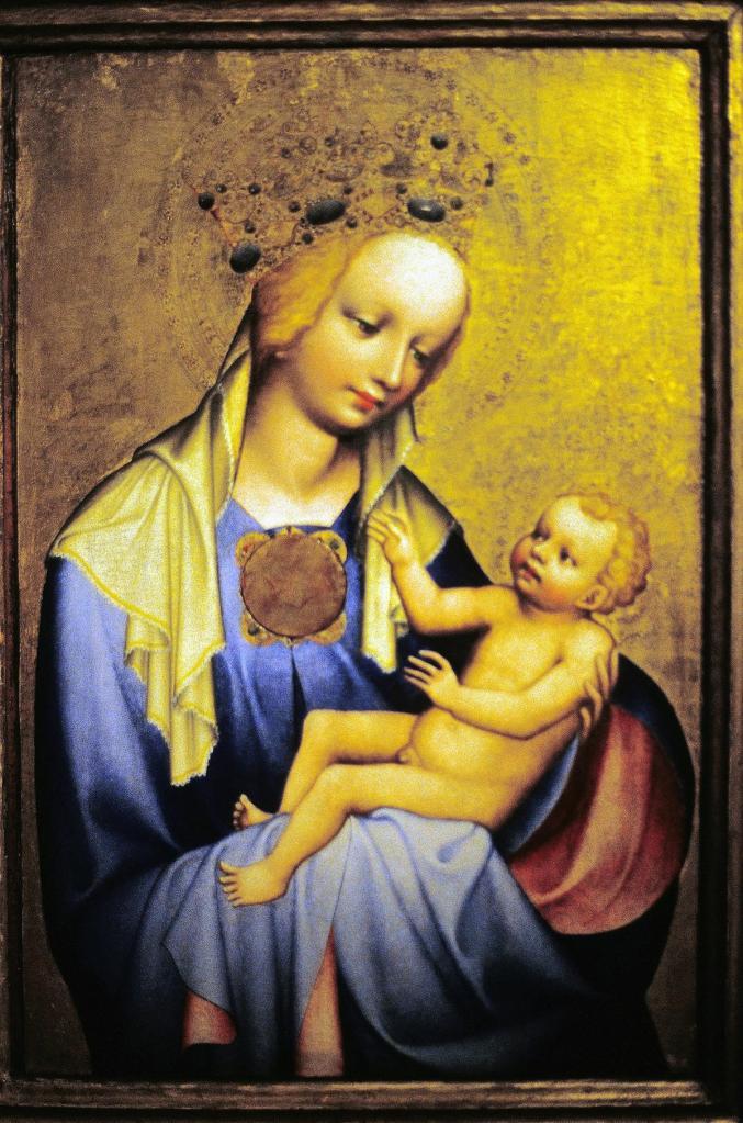 Prag: Nationalgalerie im Agneskloster - Raudnitzer Madonna [vom Meister des Wittingauer Altars nach 1380] (2004)