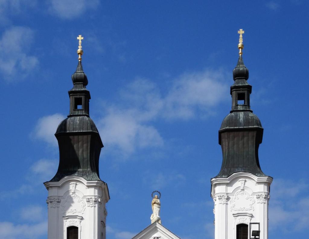 Klattau [tschech. Klatovy]: Türme der Jesuitenkirche (2020)