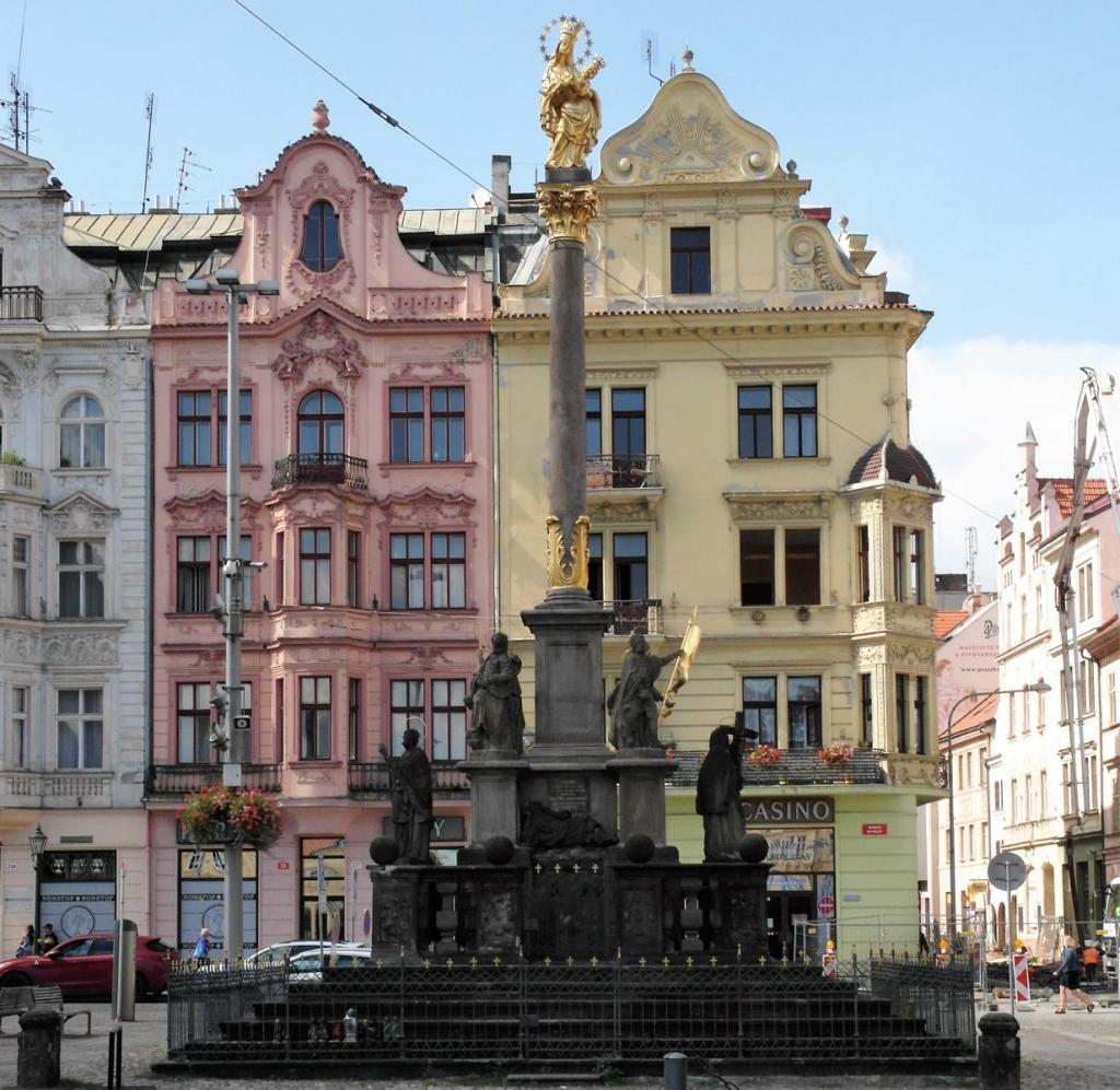 Pilsen [tschech. Plzň]: Marktplatz - Pestsäule (2020)