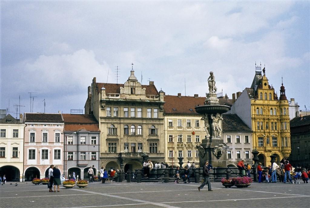 Budweis [tschech. České Budějovice]: Marktplatz (1980)