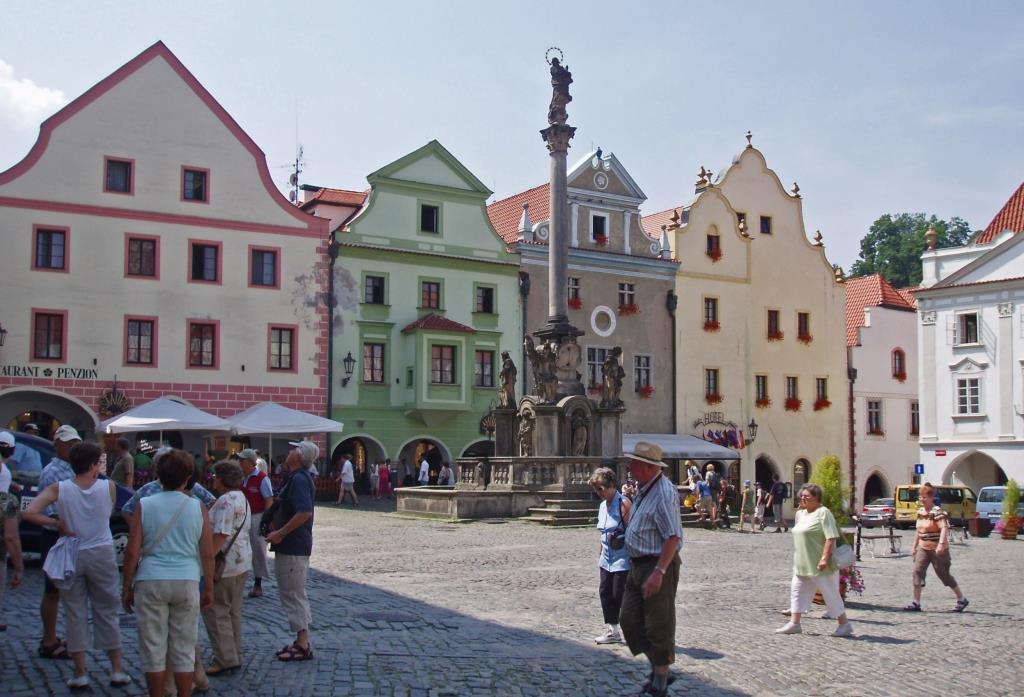 Krumau [tschech. Český Krumlov]: Marktplatz (2006)