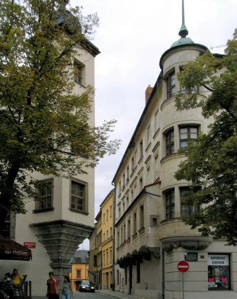 Iglau [tschech. Jihlava]: Berggericht [links] und Münze [rechts] (2008)