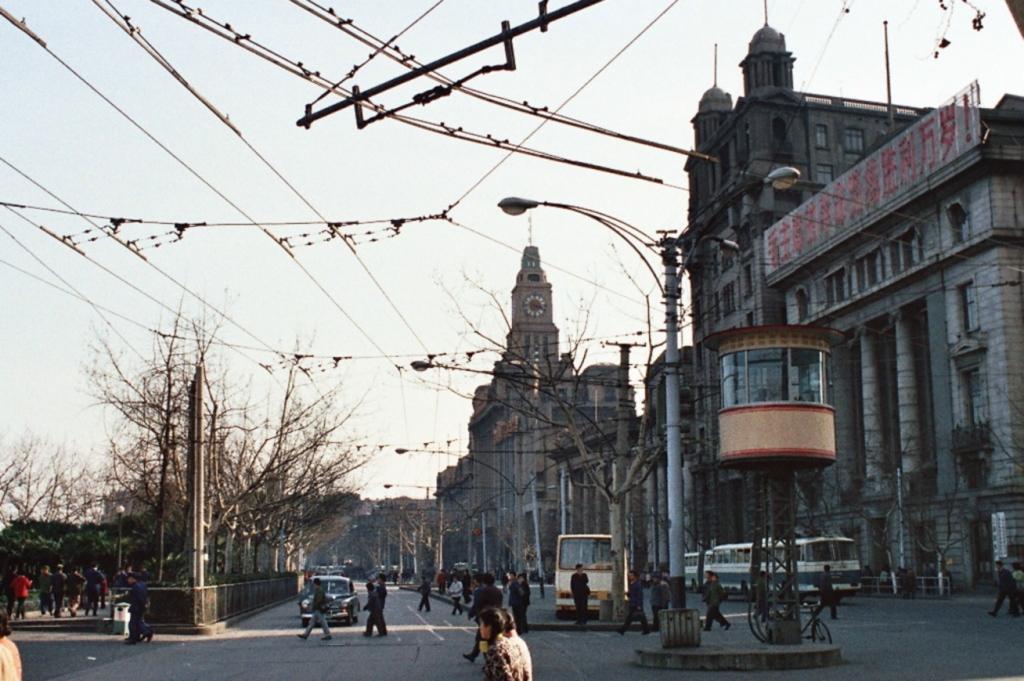 """Schanghai: Uferpromenade """"Bund"""" (1979)"""